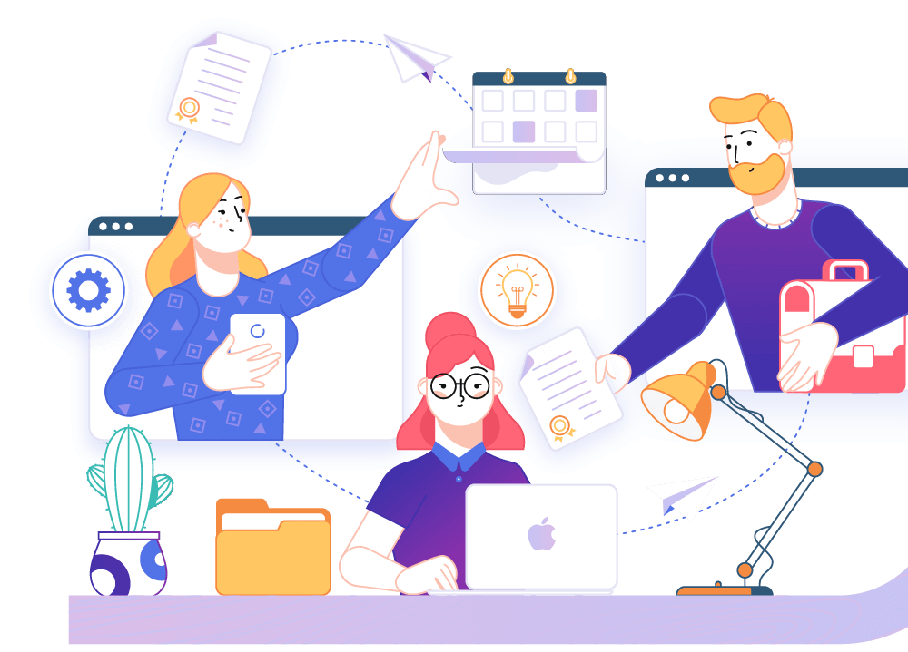 TeamStage Project Management Software Teams Illustration